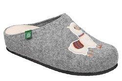 Kapcie Dr BRINKMANN 320659-91 Popielate Pantofle domowe Ciapy