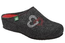 Kapcie Dr BRINKMANN 330001-09 Grafitowe Pantofle domowe Ciapy