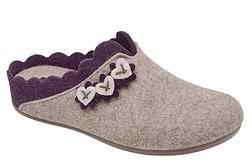 Kapcie MANITU 320574-8 Beżowe Pantofle domowe Ciapy