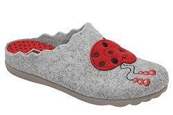 Kapcie MANITU 320603-91 Popielate Pantofle domowe Ciapy
