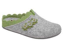 Kapcie MANITU 320697-91 Popielate Pantofle domowe Ciapy