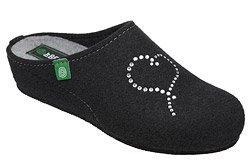Kapcie Pantofle domowe Ciapy Dr Brinkmann 330150-1 Czarne