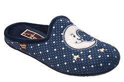Kapcie Pantofle domowe Ciapy MANITU 320470-5 Granatowe