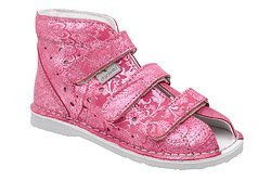 Kapcie profilaktyczne buty DANIELKI T125L T135L Brokat Różowe