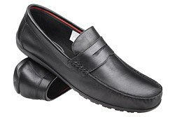 Mokasyny buty wsuwane KRISBUT 4925 Czarne