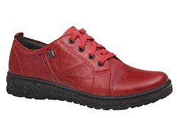 Półbuty KACPER 2-6319 Czerwone sznurowane