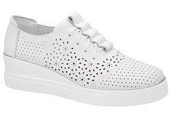 Półbuty Sneakersy ARTIKER 48C1532 Białe na koturnie