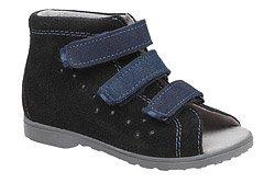 Sandałki Profilaktyczne Ortopedyczne Buty DAWID 1041 Czarne CZN