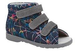 Sandałki Profilaktyczne Ortopedyczne Buty DAWID 1041 Granatowe M7