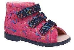 Sandałki Profilaktyczne Ortopedyczne Buty DAWID 1041 Różowe M3