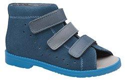 Sandałki Profilaktyczne Ortopedyczne Buty DAWID 1042 Granatowe KL-163