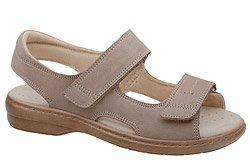Sandały AXEL Comfort 2154 H Beżowe na Haluksy