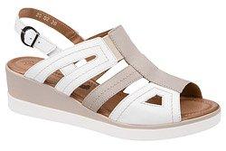 Sandały AXEL Comfort 2438 Białe Turia Beż