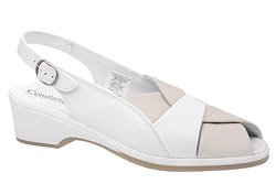 Sandały COMFORTABEL 710706-8 Białe Beż Tęgość H