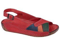 Sandały LANQIER 34C392 Czerwone
