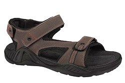 Sandały MANITU 610183-2 Brązowe na rzepy