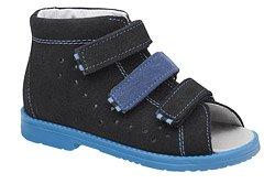 Sandały Profilaktyczne Ortopedyczne Buty DAWID 1043 Czarne CZN L20