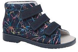 Sandały Profilaktyczne Ortopedyczne Buty DAWID 1043 Granatowe M8
