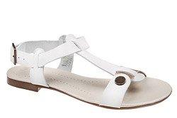 Sandały damskie VERONII 3494 Białe Złote