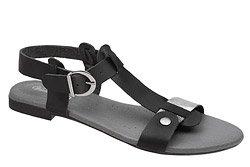 Sandały damskie VERONII 3494 Czarne Nikiel L19