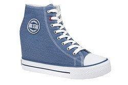 Trampki BIG STAR U274901 Niebieskie na koturnie