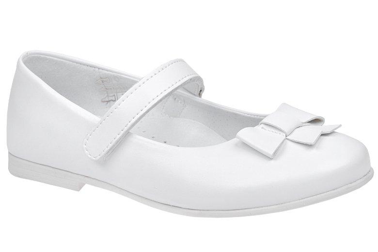 5b787323 Balerinki buty komunijne KORNECKI 6097 Białe - NeptunObuwie.pl