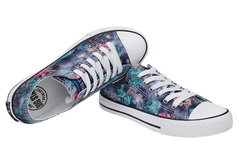 Kultowe Trampki BIG STAR U274810 Violet Flower Sklep