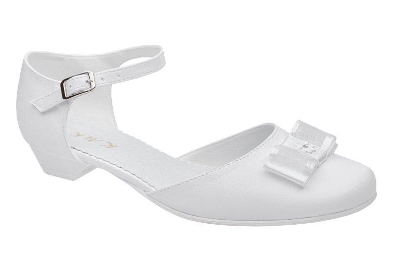 Pantofelki Komunijne Dla Dziewczynki Kmk 226 H Biale Sklep Neptunobuwie Pl