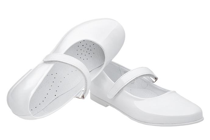 Balerinki buty komunijne KORNECKI 6275 Białe Lakierki