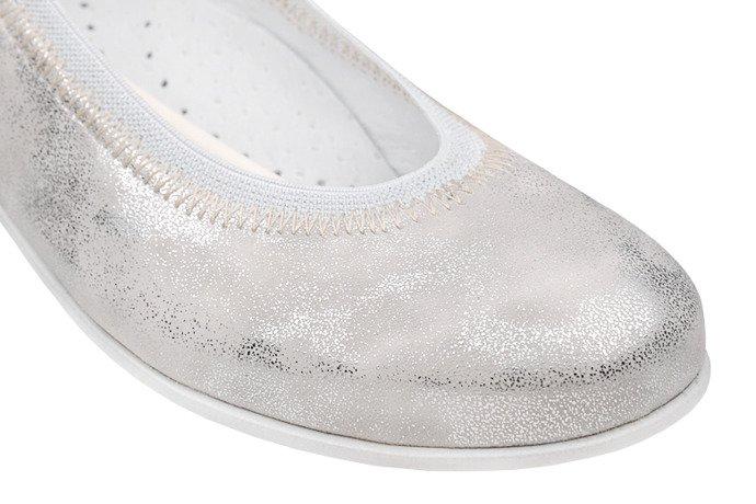 Baletki Balerinki KORNECKI 4905 Srebrne