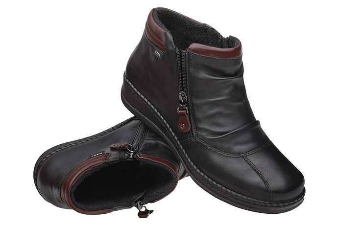 Botki AXEL Comfort 1725 Czarne H na 2-zamki