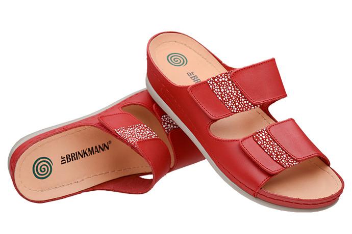 Buty klapki Dr Brinkmann 701040-4 Czerwone