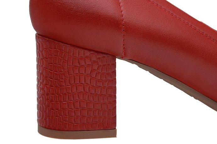 Czółenka BIOECO 5755-1181 Arka Czerwone