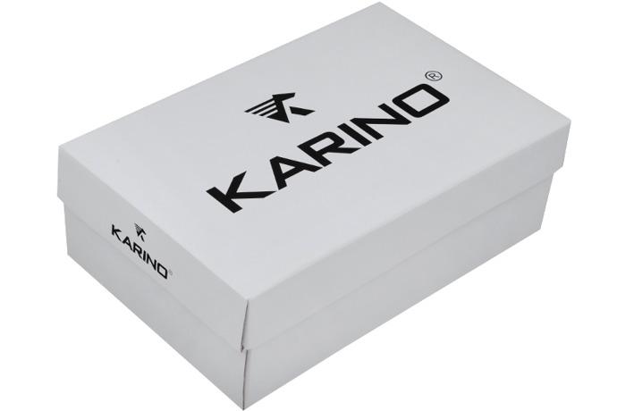 Czółenka na koturnie KARINO 1716/090 Czarne+Amarant