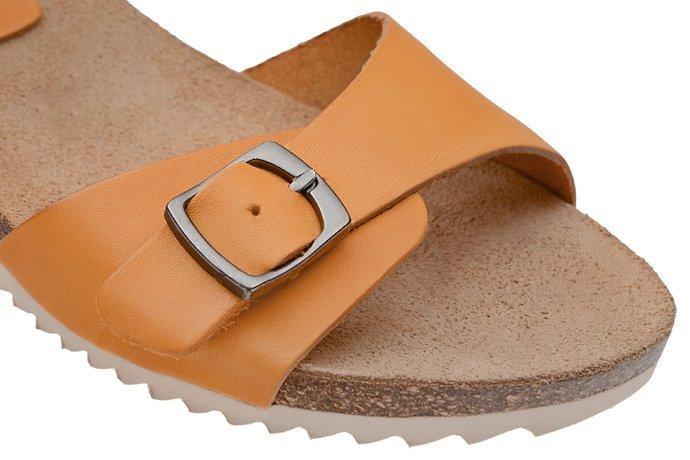 Hiszpańskie Sandały PILAR MONET 20041-1 Musztardowe