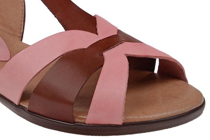 Hiszpańskie Sandały PRESSO 5004 Brązowe