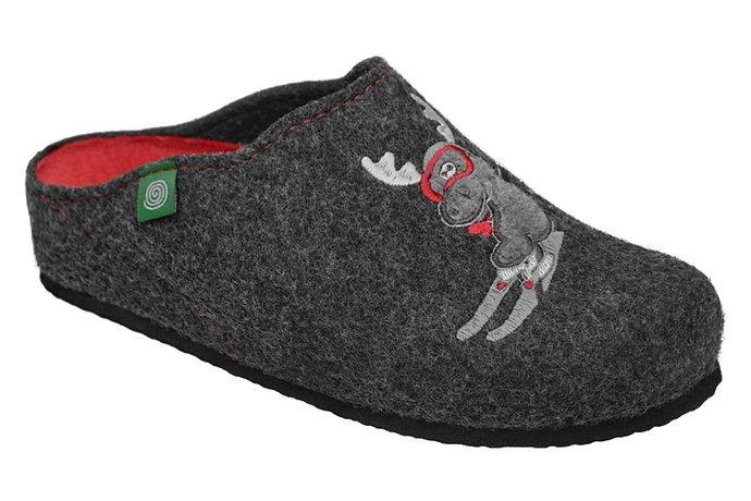 Kapcie Dr BRINKMANN 320657-9 Grafitowe Pantofle domowe Ciapy