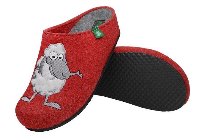 Kapcie Dr BRINKMANN 320660-4 Czerwone Pantofle domowe Ciapy
