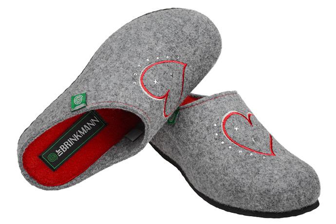 Kapcie Dr BRINKMANN 330149-9 Popielate Pantofle domowe Ciapy