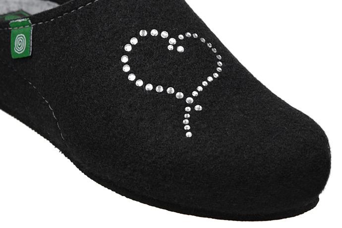 Kapcie Dr BRINKMANN 330150-1 Czarne Pantofle domowe Ciapy