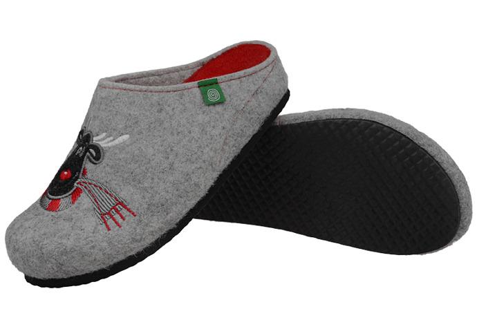 Kapcie Pantofle domowe Buty Dr Brinkmann 320426-9 Popielate