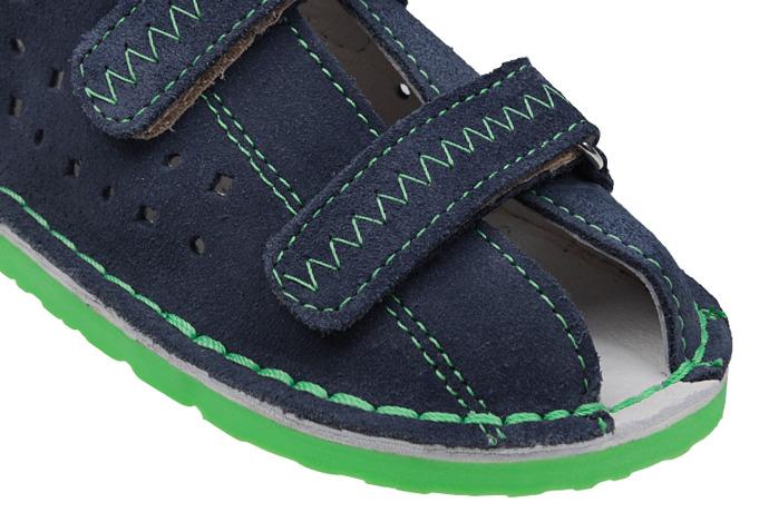 Kapcie profilaktyczne buty DANIELKI T105E T115E Jeans Zielony