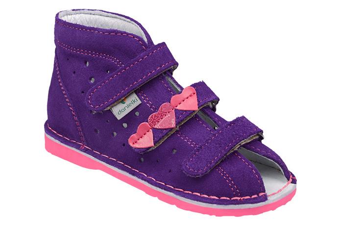 Kapcie profilaktyczne buty DANIELKI TA125 TA135 Fiolet Fuksja