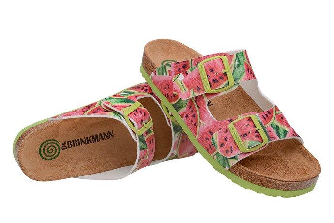 Klapki Dr Brinkmann 701166-0 Arbuzy