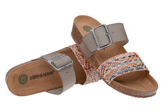 Klapki Dr Brinkmann 701180-7 Khaki Multi