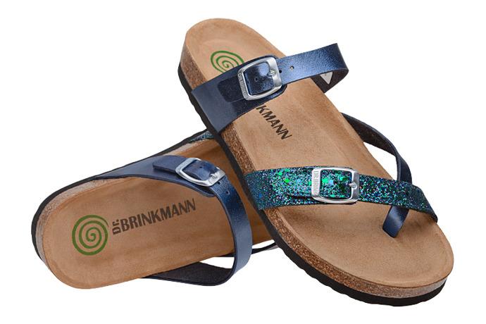 Klapki Japonki Dr Brinkmann 701255-5 Granatowe Brokat