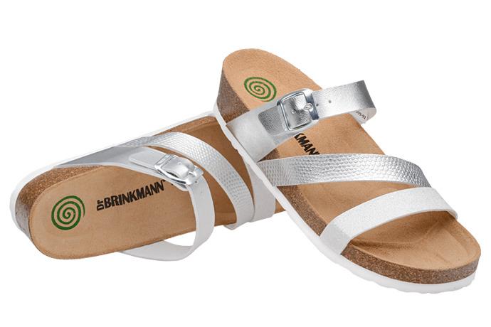 Klapki buty Dr Brinkmann 700999-92 Srebrne