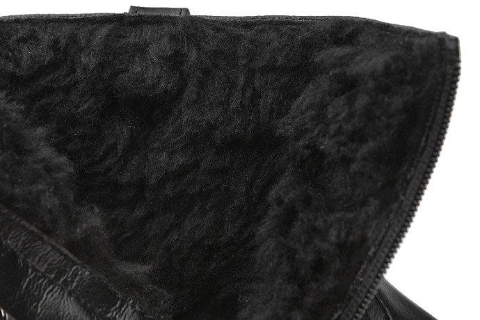 Kozaczki Botki zimowe KORNECKI 6019 Czarne ocieplane