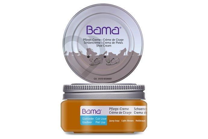 Krem do obuwia BAMA Premium w słoiczku 031 Jasny Brąz