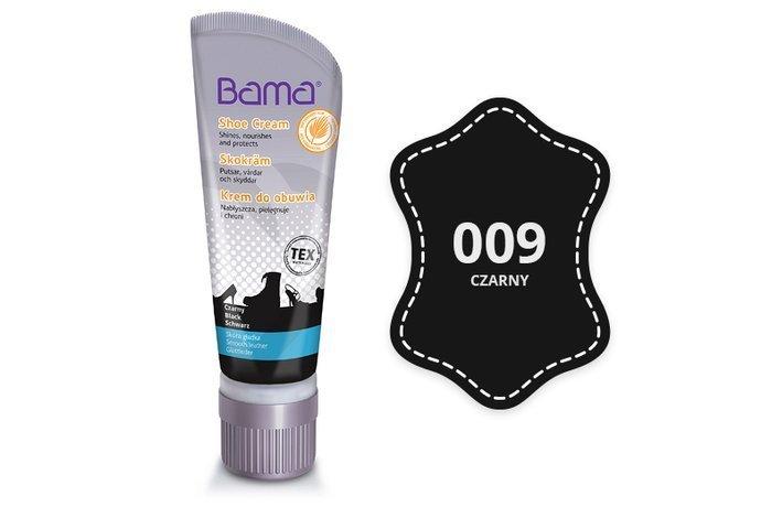 Krem do obuwia BAMA z woskiem Carnauba 009 Czarny